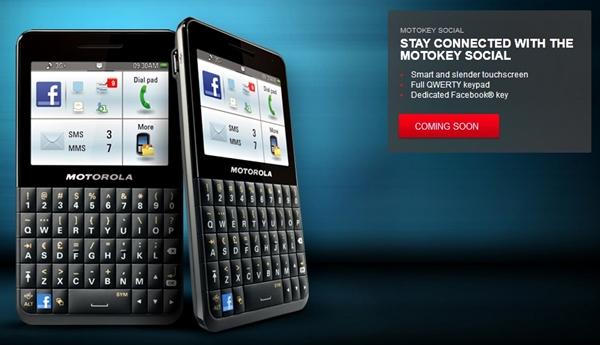 Motokey Social, First Facebook Phone from Motorola » CnwinTech