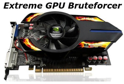 CNWINTECH Extreme GPU Bruteforcer Crack passwords with 450 Millions passwords Sec Speed Break Up to 450 Million Passwords per Second with Extreme GPU Bruteforcer