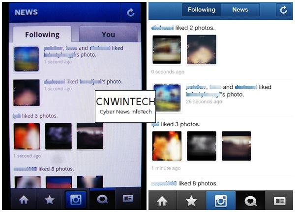 CnwinTech Instagram Android Apple Following Friends News Comparison of Instagram Application on Apple and Android Devices