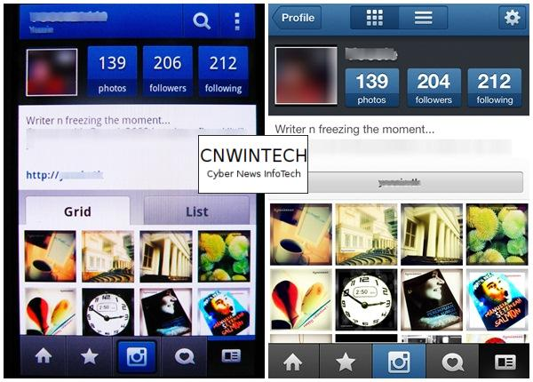 CnwinTech Instagram Android Apple Profile Comparison of Instagram Application on Apple and Android Devices