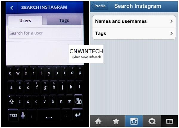 CnwinTech Instagram Android Apple Search Comparison of Instagram Application on Apple and Android Devices