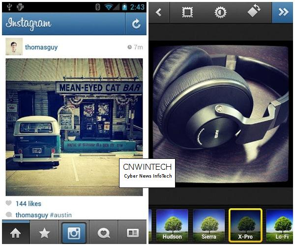 Instagram application Comes in the Android Platform 2
