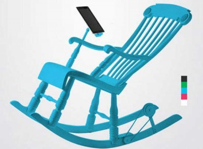 Micassa Lab iRock, Rocking Chair Can Charging iPhone and iPad Batteries 1