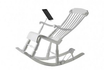 Micassa Lab iRock, Rocking Chair Can Charging iPhone and iPad Batteries 3
