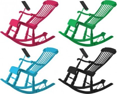 Micassa Lab iRock, Rocking Chair Can Charging iPhone and iPad Batteries 4